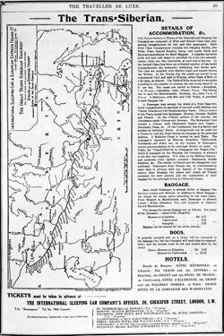Map of the Trans-Siberian Railway, Produced by J. Bartholomew and Co., c.1920 by English School
