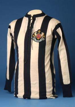 Newcastle United Jersey from the 1911 FA World Cup Final, 1911 by English School