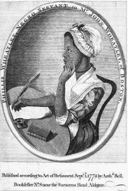 Phillis Wheatley, Frontispiece to Her 'Poems on Various Subjects', 1773 by English School