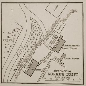 Plan of the Defence of Rorke's Drift by English School
