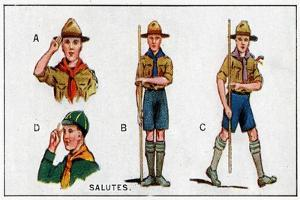 Scout Salutes, 1929 by English School