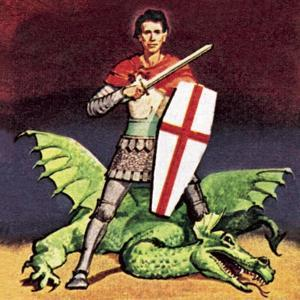 St George and the Dragon by English School