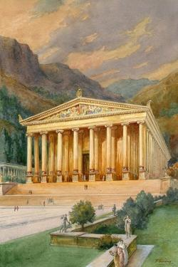 Temple of Diana by English School