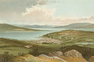 The Clyde and Rothesay Bay from Barone Hill by English School