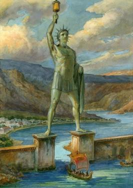 The Colossus of Rhodes by English School