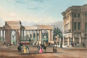 The Entrance to Hyde Park from Piccadilly with the West Wing of Apsley House by English School