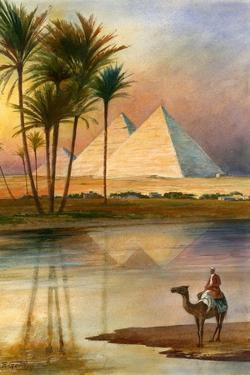 The Great Pyramid of Giizeh by English School