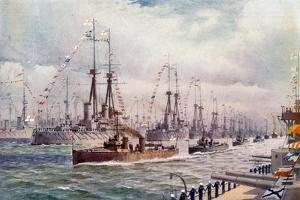 The Naval Review at Spithead by English School