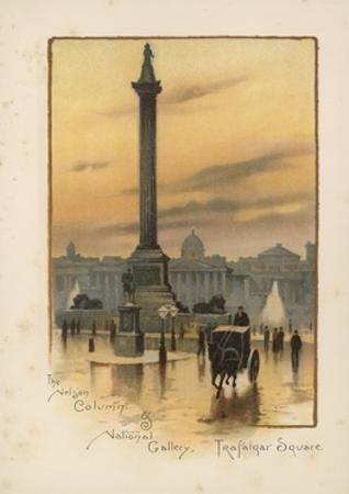The Nelson Column, the National Gallery, Trafalgar Square