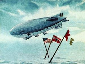 The Norge Airship by English School
