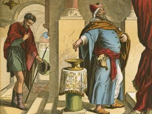 The Pharisee and the Publican by English School