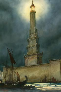 The Pharos of Alexandria by English School