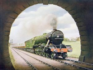 The 'Queen of Scots' of the North Eastern Railway, Illustration from 'The Wonder Book of… by English School