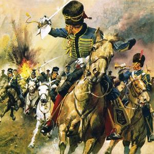 The Valley of Death - the Charge of the Light Brigade by English School