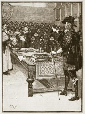 Trial of Charles, Illustration from 'Cassell's Illustrated History of England' by English School