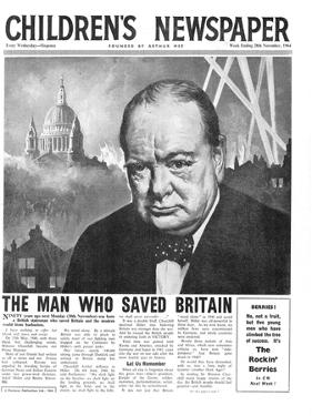 Winston Churchill: the Man Who Saved Britain, Front Page of 'The Children's Newspaper' by English School