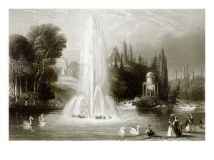 The Fountain at Wilhelmshohe, Near Cassel by English