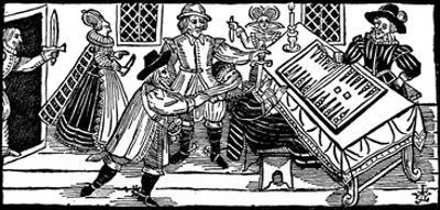 The Murder of Arden of Feversham, an Illustration from 'A Book of Roxburghe Ballads' (Woodcut) by English