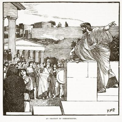 The Oration of Demostenes (Litho)
