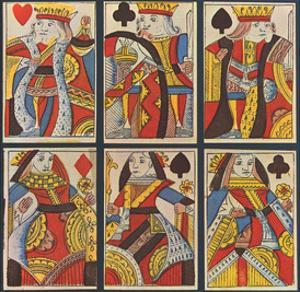 English timber cutters in 1800 (Sheet with six playing cards) Art Poster Print