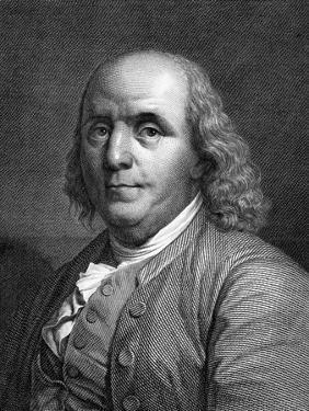 Engraved Portrait of Benjamin Franklin