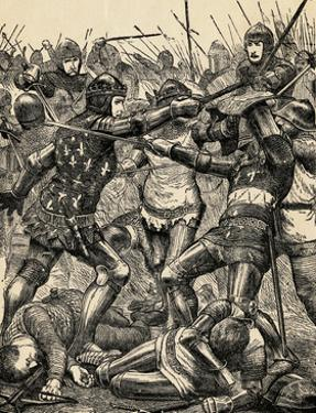 Engraving of the Battle of Poitiers