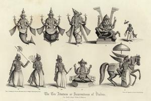 Engraving of the Ten Avatars of Vishnu