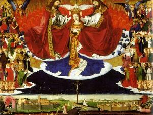 The Coronation of the Virgin, 1454 by Enguerrand Quarton