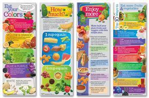 Enjoy More Fruits And Veggies Poster Set