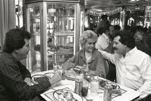Enjoying Cuban Cuisine at Versailles Restaurant, 1987