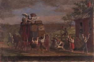 Study for the Pemigewasett Coach, c.1880-89 by Enoch Wood Perry