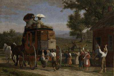 The Pemigewasset Coach, 1899 by Enoch Wood Perry