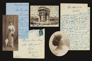 Personal Archives of Correspondence, 1897-1908, 1912-21 (Pen and Ink on Paper, B/W Photo) by Enrico Caruso