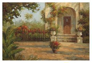 Santiago's Courtyard by Enrique Bolo