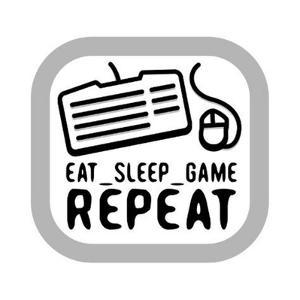 Eat Sleep Game Repeat by Enrique Rodriguez Jr.