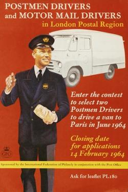 Enter the Contest to Select Two Postmen Drivers to Drive a Van to Paris in June 1964