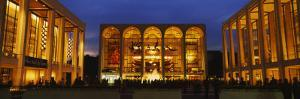 Entertainment Building Lit Up at Night, Lincoln Center, Manhattan, New York City
