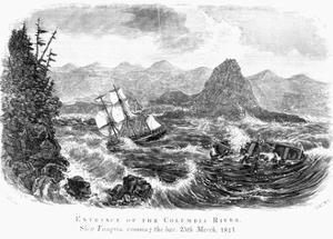 Entrance of the Columbia River, Ship Tonquin Crossing the Bar