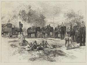 Entrance of the First Locomotive into Indore, Central India