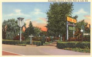 Entrance to Cedar Point, Lake Erie, Ohio