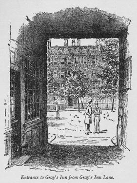 Entrance to Grays Inn from Grays Inn Lane, C1918