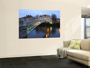 The Ha'Penny Bridge across the River Liffey Leading to Temple Bar Area by Eoin Clarke