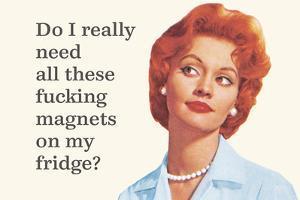 Do I Really Need All These Fucking Magnets on My Fridge? by Ephemera