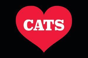 Heart (Love) Cats by Ephemera