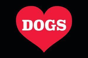 Heart (Love) Dogs by Ephemera