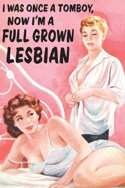 I Was Once a Tomboy Now I'm a Full Grown Lesbian Funny Poster by Ephemera