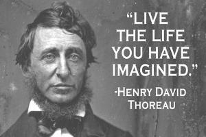 Live The Life You Have Imagined Henry David Thoreau Quote Plastic Sign by Ephemera