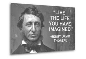 Live The Life You Have Imagined Henry David Thoreau Quote Poster by Ephemera