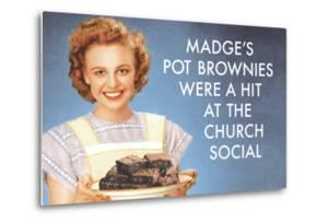 Madge's Pot Brownies Were a Hit at the Church Social Funny Poster by Ephemera