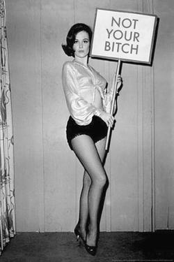 Not Your Bitch Pinup Funny Plastic Sign by Ephemera